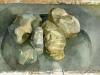 Hongaarse stenen in de regen
